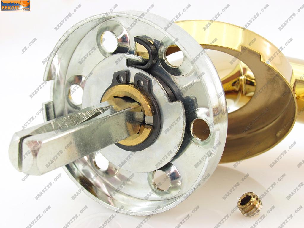 Дръжки за врати модел L 5046 OL цвят месинг покритие хром