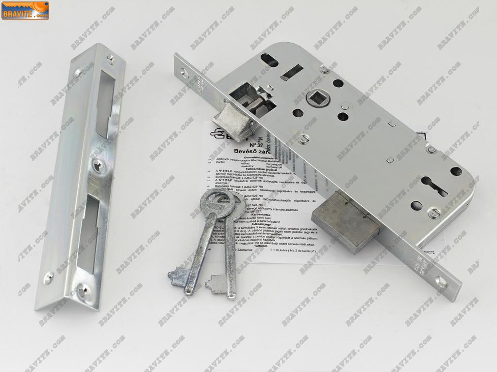 брава с полусекретен ключ